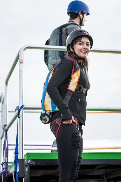 Bridge Day 2016 ,Nataliya Povroenyk BASE jumper Bridge Day 2016 New River Gorge Base jumper