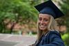 Smiling woman graduate