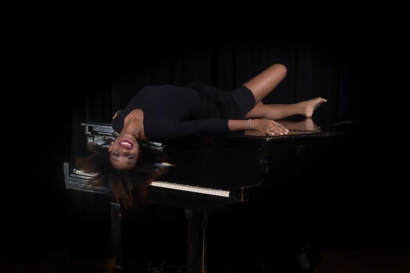 Mercedes dancer modeling in studio