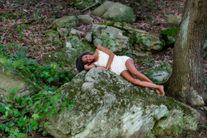 Mercedes at Cheat Lake modeling