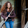Nina Assimakopoulos modleling with flute at Dorsey Knob