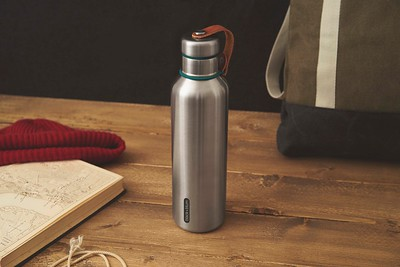 Insulated Water Bottle Large ocean Black Blum