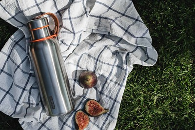 Insulated Water Bottle orange Black Blum