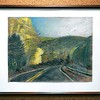 """BEN GARVER — THE BERKSHIRE EAGLE<br /> """"Mountain Road"""" is a pastel drawing by Ruth Briston, Grade 12, of BART Charter School in Adams. The Norman Rockwell Museum is hosting the 33rd Annual Berkshire County High School Art Show."""