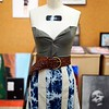 """BEN GARVER — THE BERKSHIRE EAGLE<br /> """"Mossy Lust Top and Hatebreaker skirt"""" is a recycled fabric creation  by Gracie O'Brien,  Grade 11, of Monument Mountain Regional High School. The Norman Rockwell Museum is hosting the 33rd Annual Berkshire County High School Art Show."""