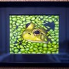 """BEN GARVER — THE BERKSHIRE EAGLE<br /> """"Frog Study"""" is a watercolor painting made by Fiona Caligari-Randall, grade 10, who is homeschooled. The Norman Rockwell Museum is hosting the 33rd Annual Berkshire County High School Art Show."""