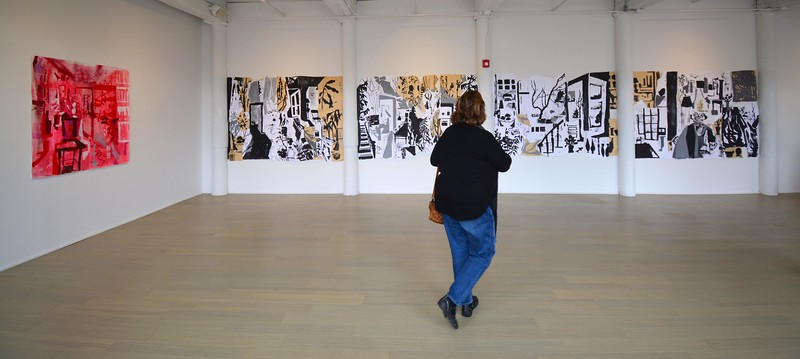 "Allison Gildersleeve's exhibit ""The Retelling."" - 100318"