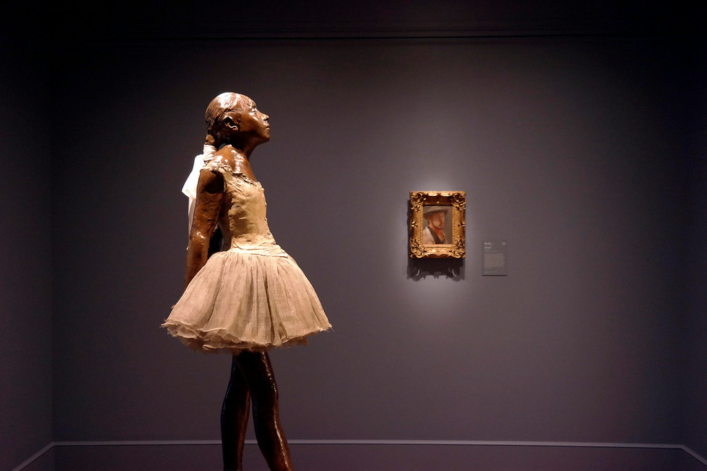 . The Little Dancer by Degas has her own room in the Clark Art Institute, Tuesday July 1, 2014. A protrait of the artist is in the background.  Ben Garver / Berkshire Eagle Staff / photos.berkshireeagle.com