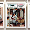 "The Saturday Evening Post Cover featuring ""The Rookie"" was published on March 2, 1957.  Sherm Safford was the model for the rookie on the right of the picture and Frank Sullivan posed as the model for himself (seated to the left) and as a stand in for Ted Williams.  This copy is a reproduction at the Norman Rockwell Museum."