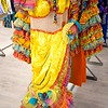 """BEN GARVER — THE BERKSHIRE EAGLE<br /> A dress from  the Broadway production of """"On the Town""""  is  among the costumes in storage at Barrington Stage Company."""