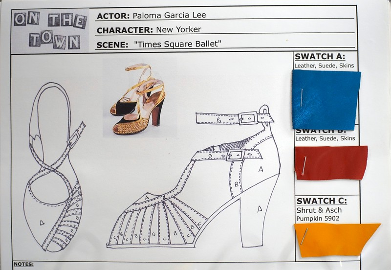 """BEN GARVER — THE BERKSHIRE EAGLE<br /> The costumes at Barrington Stage Company have extensive documentation. Barrington Stage Company (BSC) inherited a huge array of costumes from the Broadway production of """"On the Town."""""""
