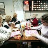 Left to right:  Laura Brown, Betty Mattison, Janet Verge, Linda Delisle and Thelma Bolognia play bingo at the Hinsdale Lions Club. The group of women bring snacks, good-luck charms and plenty of markers for the game.