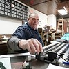 BEN GARVER — THE BERKSHIRE EAGLE<br /> Norman Dodge calls the numbers at the Hinsdale Lion's Club's weekly bingo night that meets every Tuesday at 6:30.