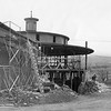 Rebuilding the Round Stone Barn at Hancock Shaker Village in Pittsfield, May 2, 1968. Photo by Clem Moore.