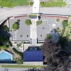 BEN GARVER — THE BERKSHIRE EAGLE<br /> Aerial view of Naumkeag, June 12, 2018. Chinese Garden.