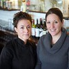 BEN GARVER — THE BERKSHIRE EAGLE<br /> Danielle Dragonetti has opened the Post Eatery and Bar on Railroad Street in Lee, featuring sustainably and humanely sourced comfort food. Dragonetti is posing with server Amanda Sacchetti in the photo.