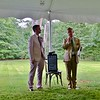 Berkshire Botanical Gardens Executive Director Michael Beck and board of trustees Chairman Matthew Larkin deliver the opening remarks. Janel Harrison — Special to the Eagle