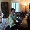 "Benny ""Fingers"" Kohn works the keys in the piano room. Janel Harrison — Special to the Eagle"