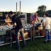 Chef Brian Alsberg plates dishes for the gala. Janel Harrison — Special to The Eagle