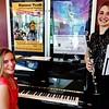 Instrumentalists Caroline Sprague on piano and Emma Adler on clarinet.