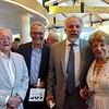 Supporter Gordon Hyatt, of New York, actor David Adkins, of New York, actor Jonathan Epstein, who lives in the Berkshires and supporter Carole Hyatt pause for a moment during the festivities.