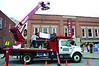 Callahan Sign Company installs a marquee below the Images Cinema sign, above the front door, on Spring Street in Williamstown on Friday, Dec. 6, 2013. (Gillian Jones/North Adams Transcript)