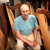 BEN GARVER — THE BERKSHIRE EAGLE<br /> West Stockbridge harp maker Michael Costerisan, a longtime woodworker who, for the last five years, has started making harps under the label October Mountain Folk Harps. Costerisan makes folk, or Celtic, harps out of a variety of woods.  The harps all share a round back and a cedar soundboard.