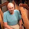 BEN GARVER — THE BERKSHIRE EAGLE<br /> West Stockbridge harp maker Michael Costerisan, a longtime woodworker who, for the last five years, has started making harps under the label October Mountain Folk Harps.