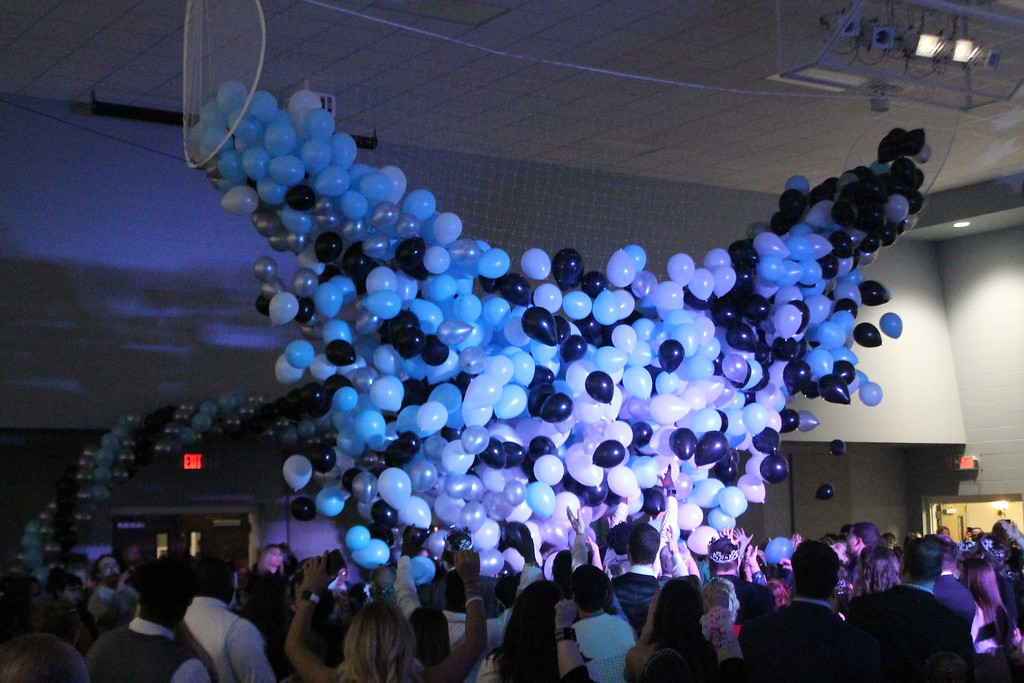 . Prom goers at the Night to Shine Prom held Feb. 9, at Painesville Baptist Church enjoy a balloon drop as the prom comes to an end. Kristi  Garabrandt - The News-Herald