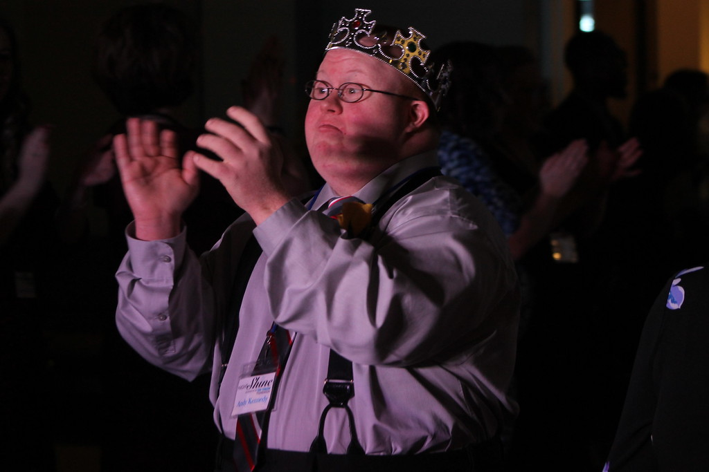 . Everyone was crowned prom king or queen  at  the Night to Shine Prom held by Painesville Baptist Church, Feb. 9,  line. Kristi Garabrandt - The News-Herald