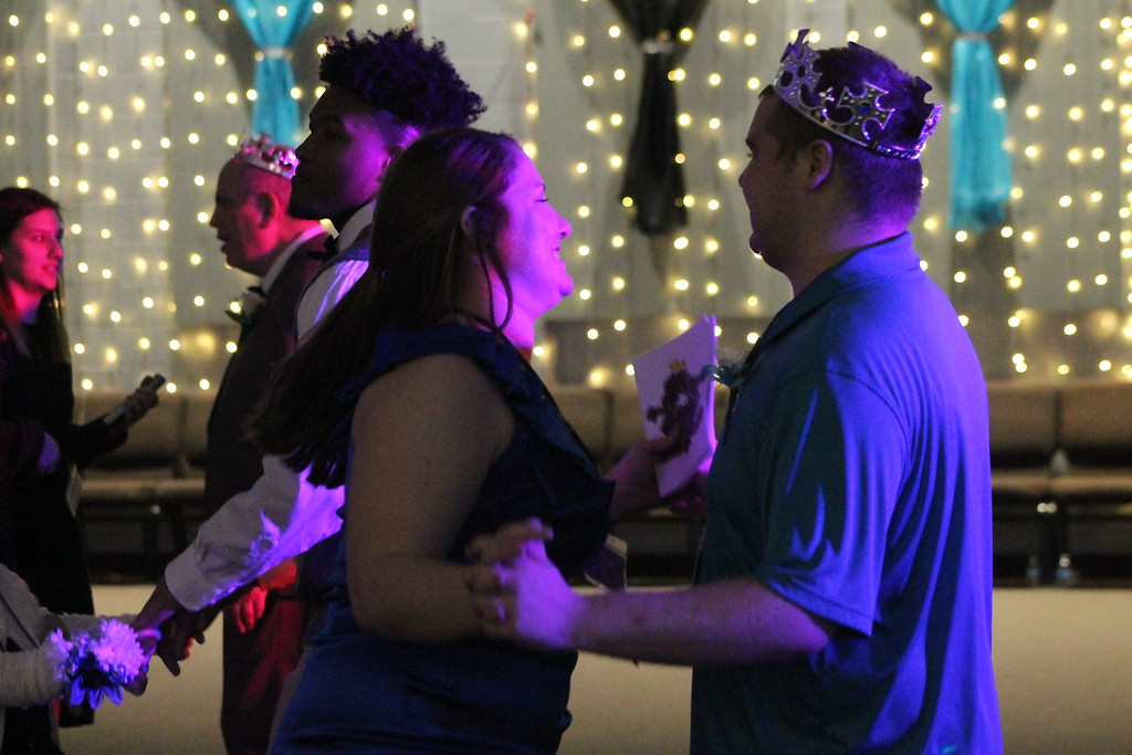 . Special guests  at  the  Prom held by Painesville Baptist Church, Feb. 9, enjoyed dancing with their dates or buddies at their Night to Shine. Kristi Garabrandt - The News-Herald