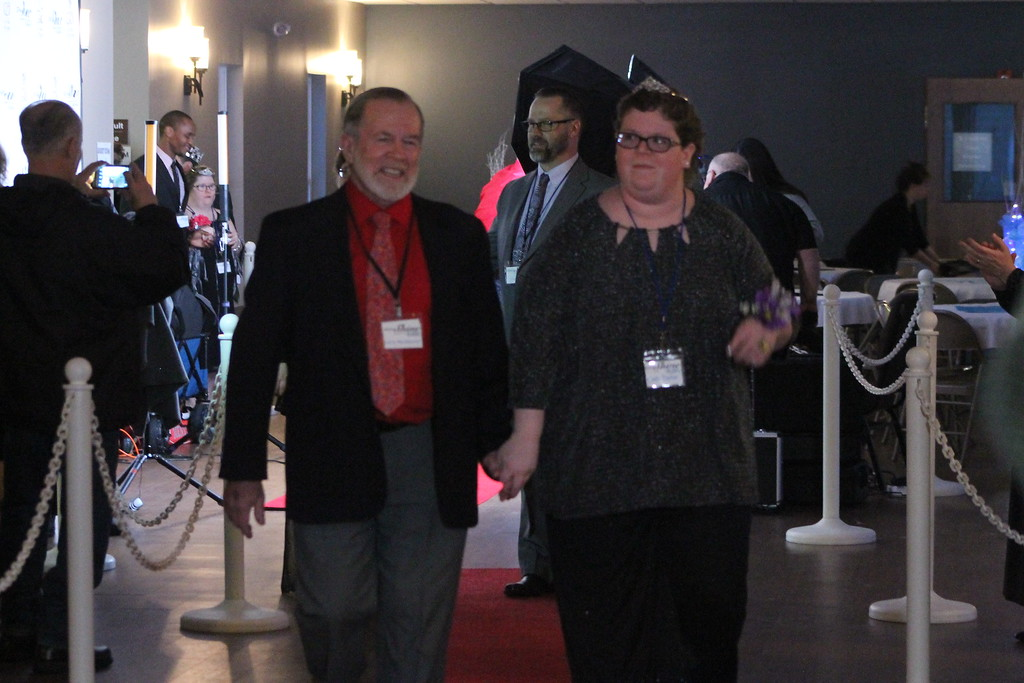 . Each person who attended  the Night to Shine Prom held by Painesville Baptist Church, Feb. 9,  was escorted down the red carpet by their date or buddy for the evening and greeted with a applause from a receiving line. Kristi Garabrandt - The News-Herald