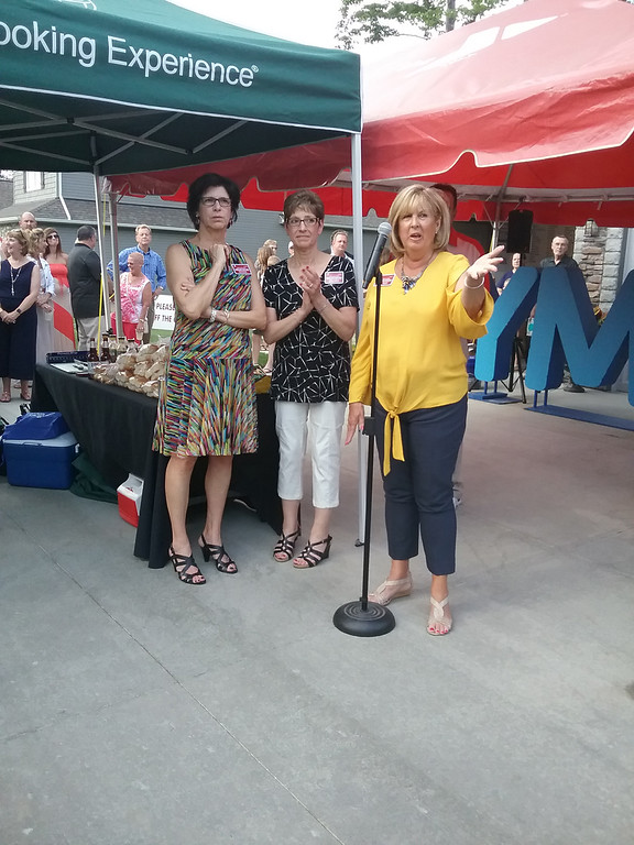 . Co-design coordinators for the 2017 Lake County YMCA Dream House were, from left, Kate Weaver of Faux What in Mentor, Kathy Wallace of Store with Style in Mentor and Karen Krauss of Karen Krauss Designs in Concord Township. (Jean Bonchak - The News-Herald)