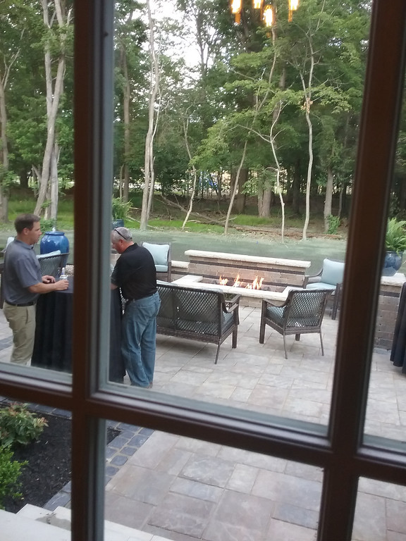 . A view of the 2017 Lake County YMCA Dream House\'s outdoor patio designed by Leisure Spaces of Mentor. (Jean Bonchak - The News-Herald)