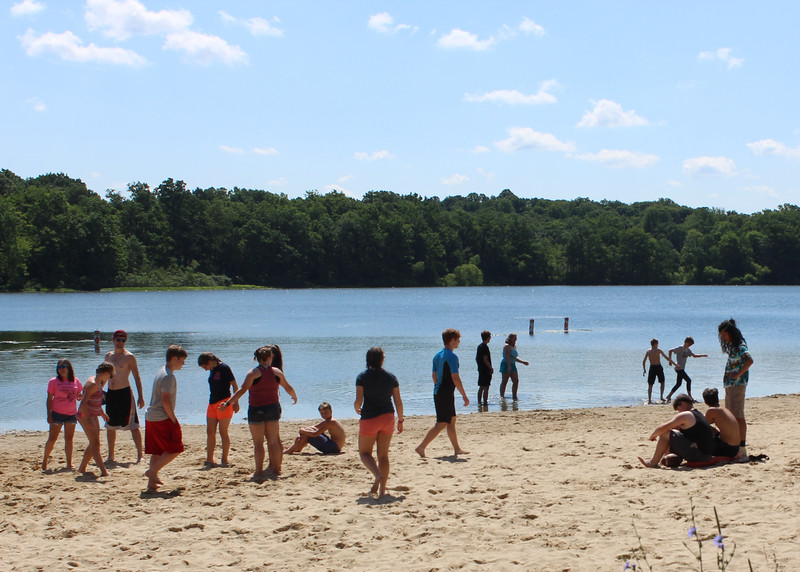 Campers enjoy a day at Punderson State Park beach in Newbury Township on June 28. (Tawana Roberts - The News-Herald)
