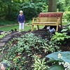 Carol Harper - The Morning Journal <br> Barb Mazzoni, pictured, and her husband, Joe Mazzoni, created Abigail's Garden in memory of Abigail, their miniature schnauzer that passed away several years ago.