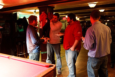 The Canonical crew from Lexington and some visiting sprinters enjoy a night out at Waxy O'Connor's Irish Pub for conversation, drinking, pub grub, pool, and darts!
