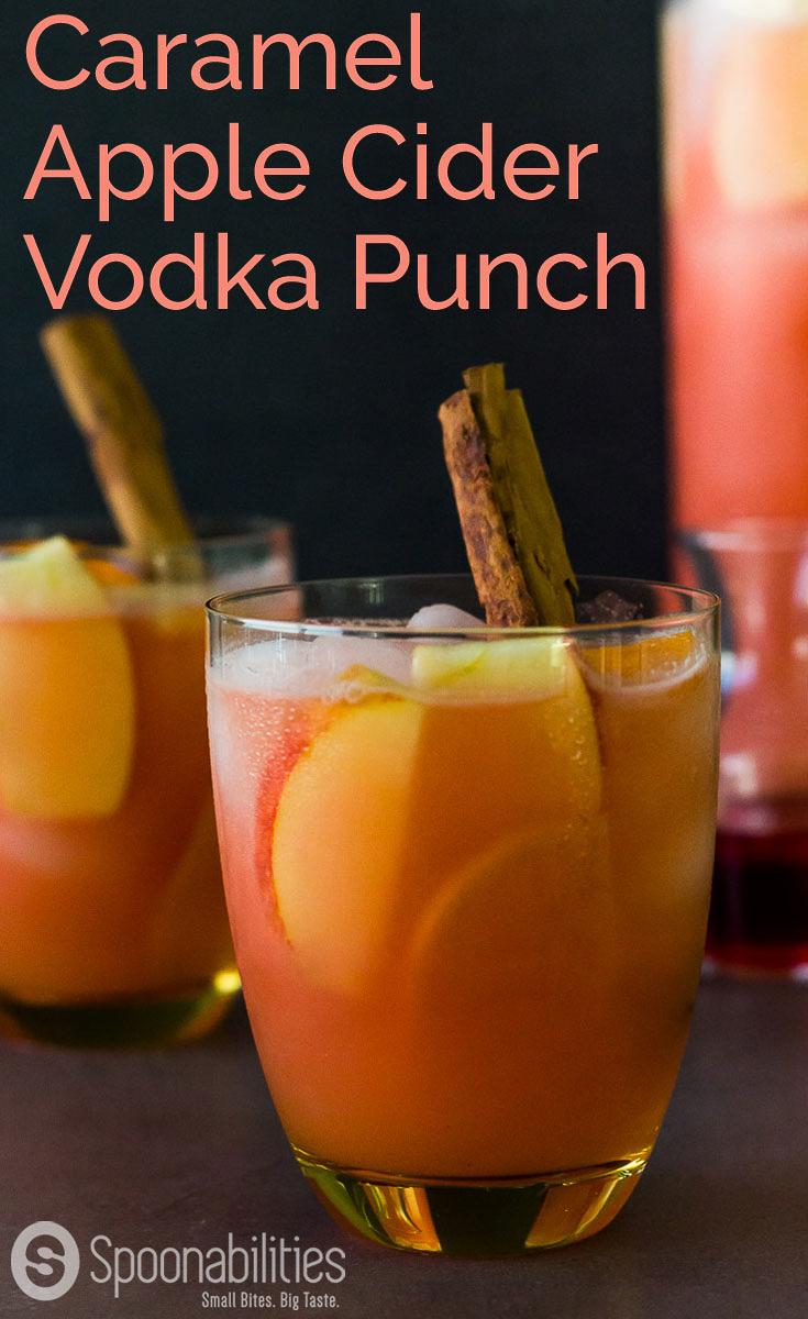 Caramel Apple Cider Vodka Punch