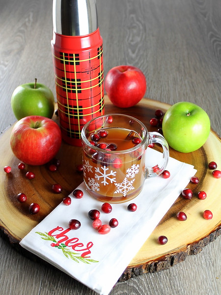 Warm Cranberry Apple Hard Cider