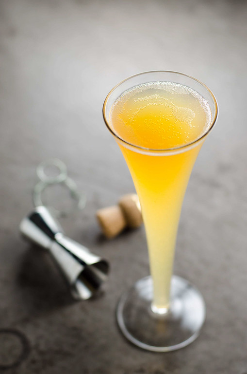 The Fifteen - a cider, champagne and whiskey cocktail