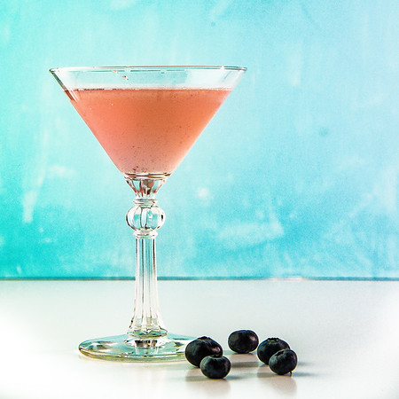 Blueberry Elderflower Martini