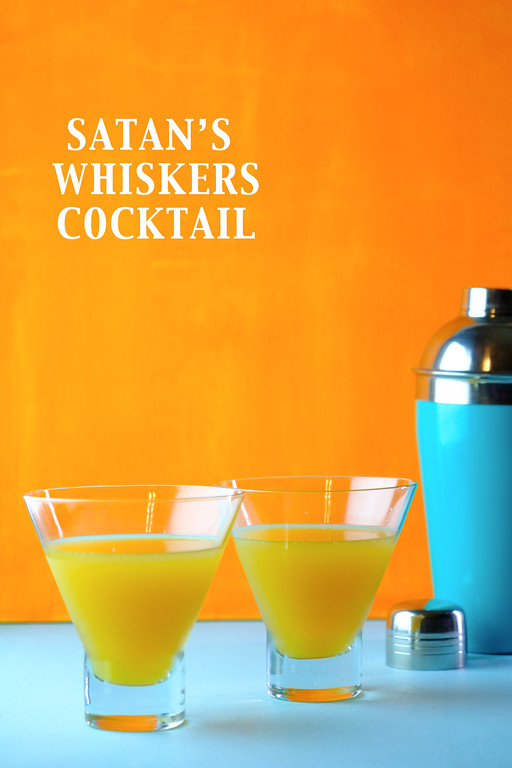 Satan's Whiskers Cocktail - gin, vermouth, orange liqueur, orange juice and bitters = yum!