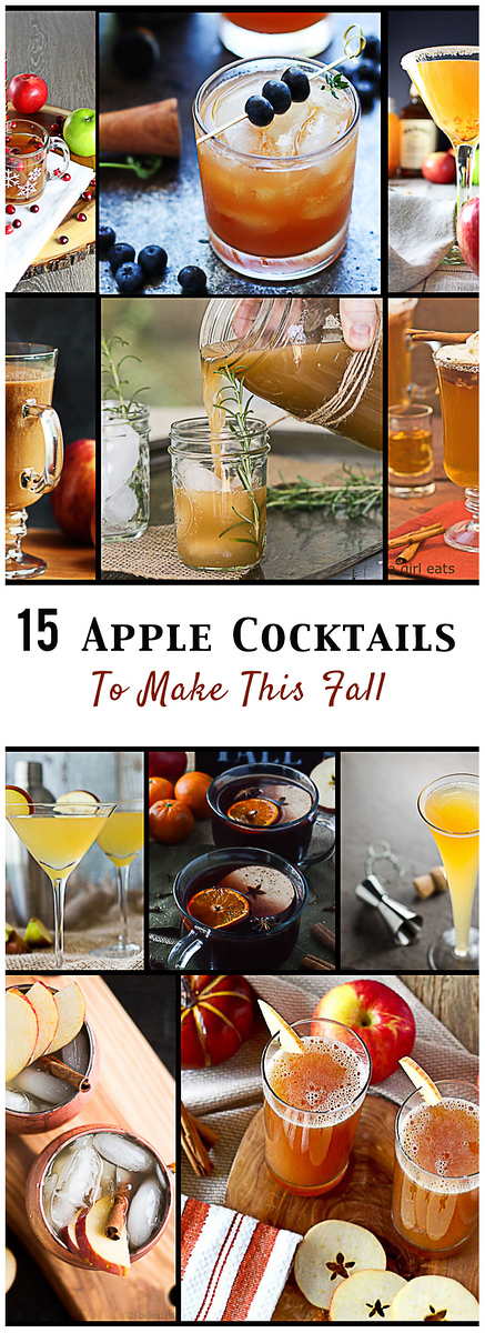 15 Apple Cocktails to make this fall