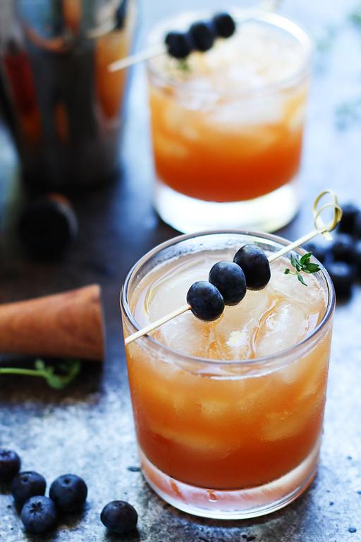 Blueberry Bourbon Smash