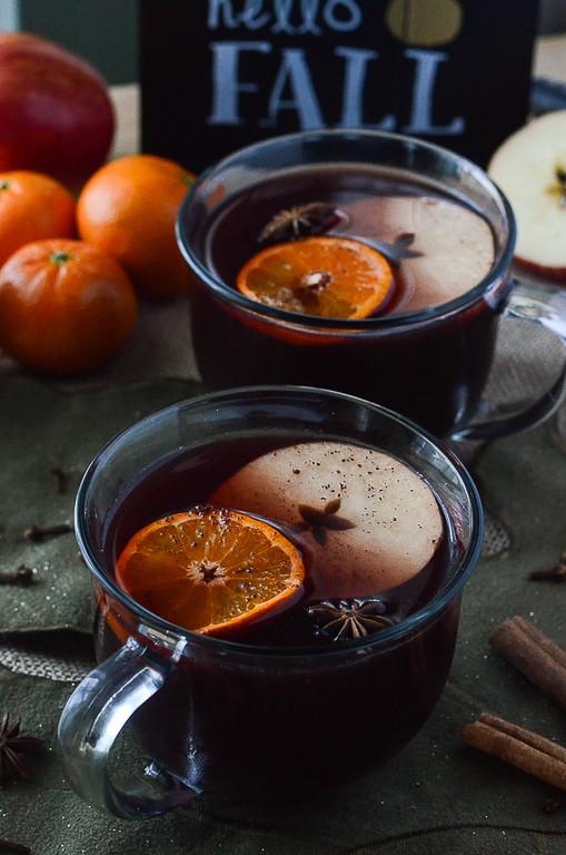 Hot Mulled Apple Cider Sangria