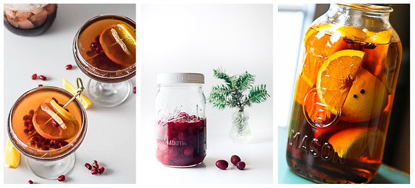 Collage of Brandy Christmas Cocktails