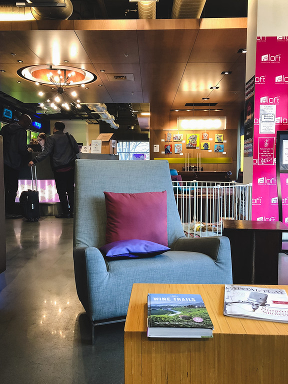 Lobby for Aloft Asheville Downtown Hotel