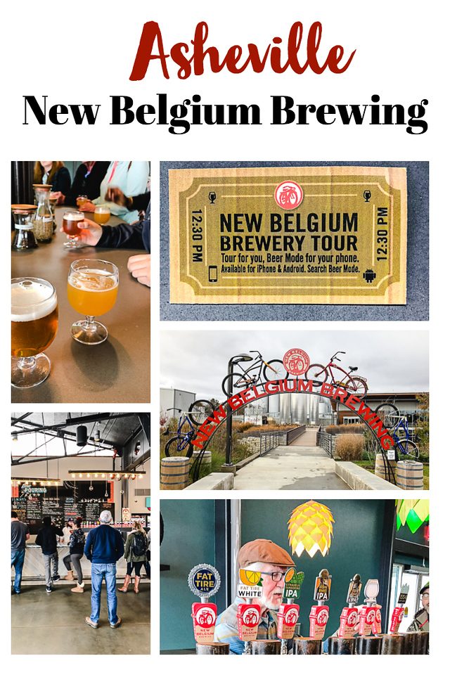 Photo collage from Asheville's New Belgium Brewery