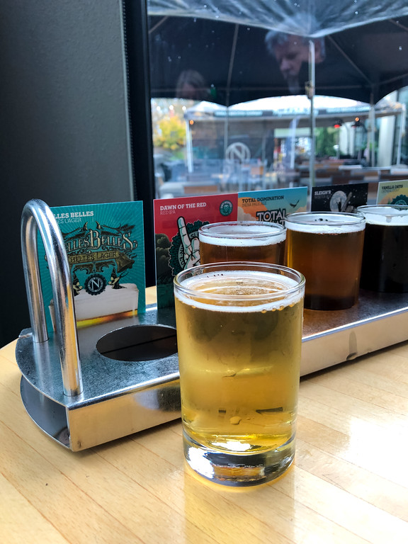 Beer tasting at Ninkasi Brewery