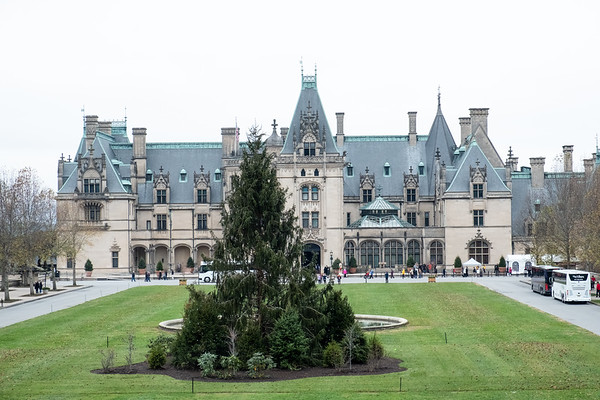 Daytime view of the Biltmore Estate.